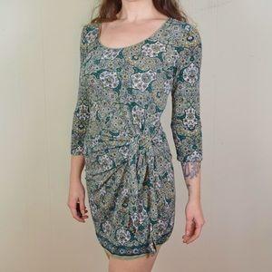 Green Paisley Mini Dress
